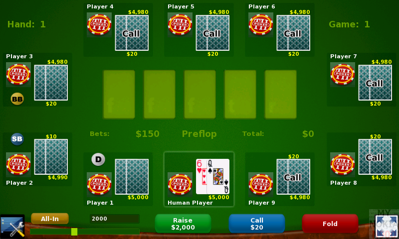 Покер по локальной сети
