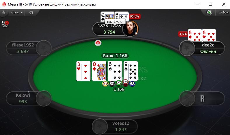 Покер на условные фишки