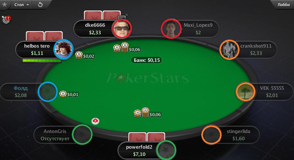 Баттон в онлайн покере